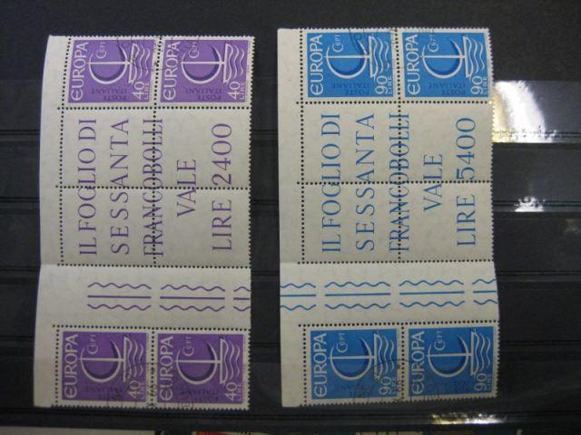 CEPT EUROPA-UNION Italien 1966 Zwischenstegpaare Mi.-Nr. 1215 ZW -16 ZW