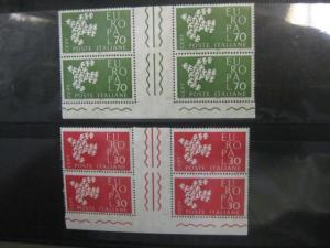 CEPT EUROPA-UNION Italien 1961 Zwischenstegpaar Mi.-Nr. 1113-14 ZW, **