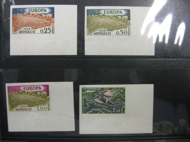 CEPT EUROPA-UNION Monaco 1962 Mi.-Nr. 695-98 U, ** ungezähnt geschnitten
