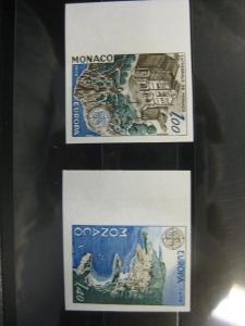 CEPT EUROPA-UNION Monaco 1978  Mi.-Nr. 1319-20 U, ** ungezähnt geschnitten
