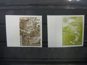 CEPT EUROPA-UNION Monaco 1978  Mi.-Nr. 1319-20 U, Farbprobe ** ungezähnt geschnitten