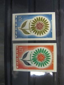 CEPT EUROPA-UNION Monaco 1964  Mi.-Nr. 782-83 U, ** ungezähnt geschnitten