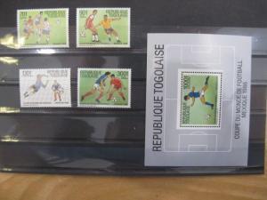 Ausgabe zur Fußball-WM 1986 in Mexiko:  Togo Togolaise