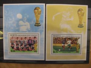 Ausgabe zur Fußball-WM 1986 in Mexiko: Bequia Grenadines of St. Vincent