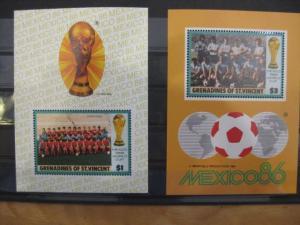 Ausgabe zur Fußball-WM 1986 in Mexiko:  Grenadines of St. Vincent