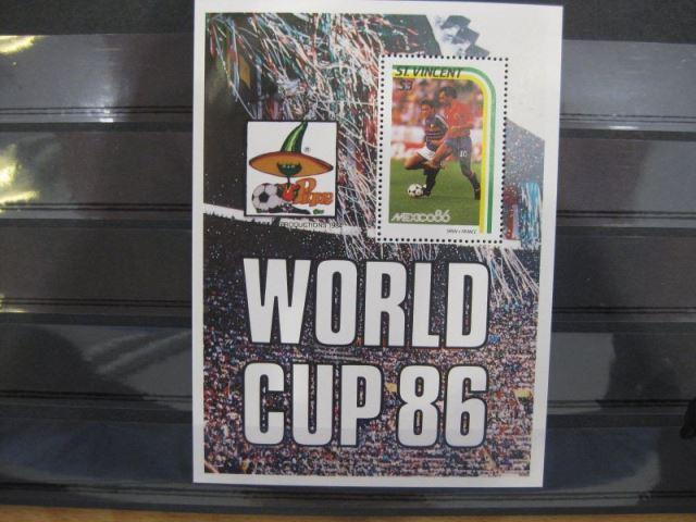 Ausgabe zur Fußball-WM 1986 in Mexiko:  St. Vincent