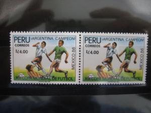 Ausgabe zur Fußball-WM 1986 in Mexiko:  Peru