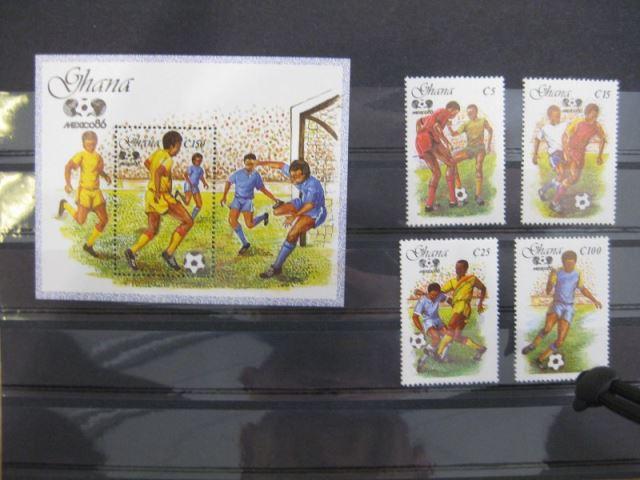 Ausgabe zur Fußball-WM 1986 in Mexiko:  Ghana