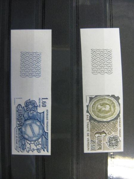 CEPT EUROPA-UNION 1982 Frankreich Mi.-Nr. 2329-30 U, **  geschnitten, ungezähnt