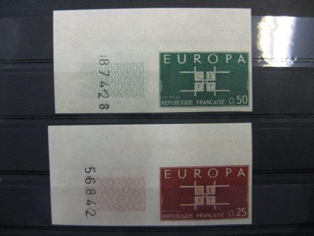 CEPT EUROPA-UNION 1963 Frankreich Mi.-Nr. 1450-51 U, **  geschnitten, ungezähnt