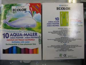 Aqua-Maler, Fasermaler, 1 x 10 mit Wasser nachfüllbare Fasermaler und 1 x  6  mit Wasser nachfüllbare Fasermaler