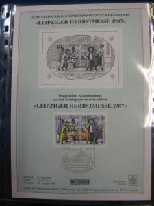 DDR Schwarzdruck: Leipziger Herbstmesse 1987