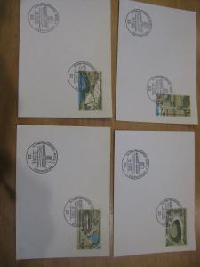 Stempelkarte mit Sonderstempel: Kiel, Ersttagsstempel Olympiamarken