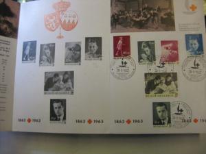 Belgien, Ankündigungsblatt mit Schwarzdruck: Rotes Kreuz, Internationales Rotes Kreuz