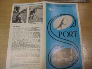Belgien, Ankündigungsblatt mit Schwarzdruck: Sport