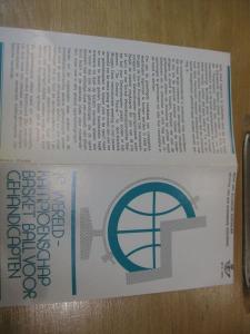 Belgien, Ankündigungsblatt mit Schwarzdruck: Sport, Basketball-WM