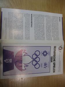 Belgien, Ankündigungsblatt mit Schwarzdruck: Sport,Olympische Sommerspiele 1984
