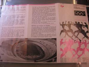 Belgien, Ankündigungsblatt mit Schwarzdruck: Sport,Olympische Sommerspiele Mexico 1968
