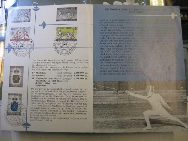 Belgien, Ankündigungsblatt mit Schwarzdruck: Sport, Fechten 1