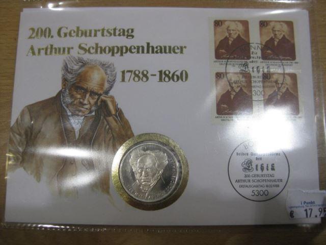Numisbrief, Münzbrief Bundesrepublik Deutschland: Schopenhauer