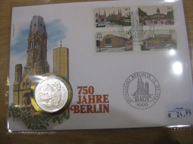 Numisbrief, Münzbrief Bundesrepublik Deutschland: 750 Jahre Berlin