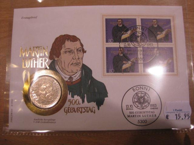 Numisbrief, Münzbrief Bundesrepublik Deutschland: Martin Luther