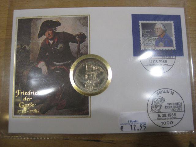 Numisbrief, Münzbrief Bundesrepublik Deutschland: Friedrich der Große
