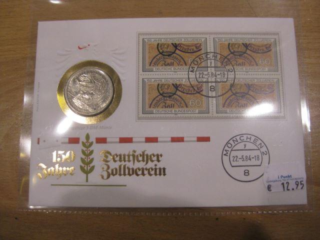 Numisbrief, Münzbrief Bundesrepublik Deutschland: Zollverein