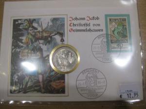 Numisbrief, Münzbrief Bundesrepublik Deutschland: Grimmelshausen