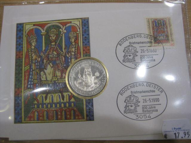 Numisbrief, Münzbrief Bundesrepublik Deutschland: Kaiser Friedrich I. Barbarossa