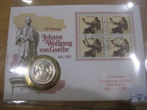 Numisbrief, Münzbrief Bundesrepublik Deutschland: Johann Wolfgang von Goethe