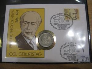 Numisbrief, Münzbrief Bundesrepublik Deutschland: Theodor Heuss