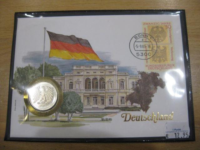 Numisbrief, Münzbrief Bundesrepublik Deutschland: 5 DM Kursmünze