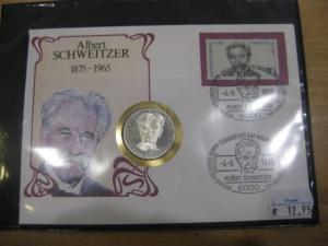 Numisbrief, Münzbrief Bundesrepublik Deutschland: Albert Schweitzer
