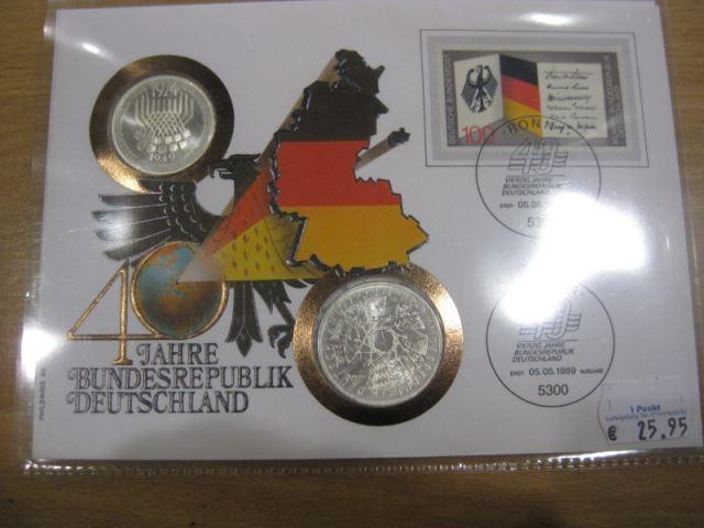 Numisbrief, Münzbrief Bundesrepublik Deutschland: 40 Jahre Bundesrepublik Deutschland