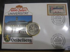 Numisbrief, Münzbrief Bundesrepublik Deutschland: Universität Heidelberg