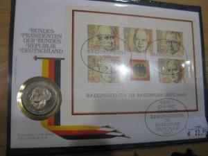 Numisbrief, Münzbrief Bundesrepublik Deutschland: Bundespräsidenten