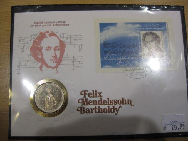 Numisbrief, Münzbrief Bundesrepublik Deutschland: Felix Mendelsohn-Bartholdy