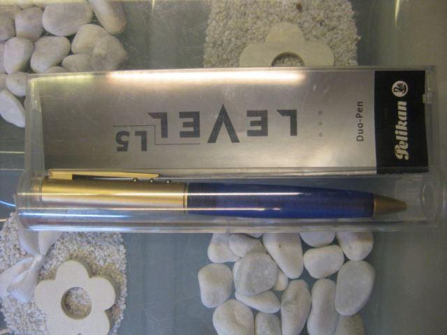 Pelikan Duo-Pen LEVEL - L5 - Gold; Druckbleistift Drehbleistift 0,5 mm und Kugelschreiber in Einem