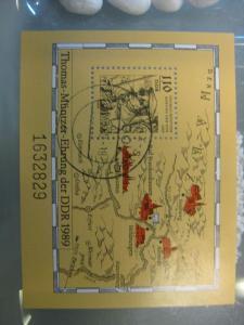 Thomas Müntzer Block 97 mit Ortsstempel, mit Tagesstempel