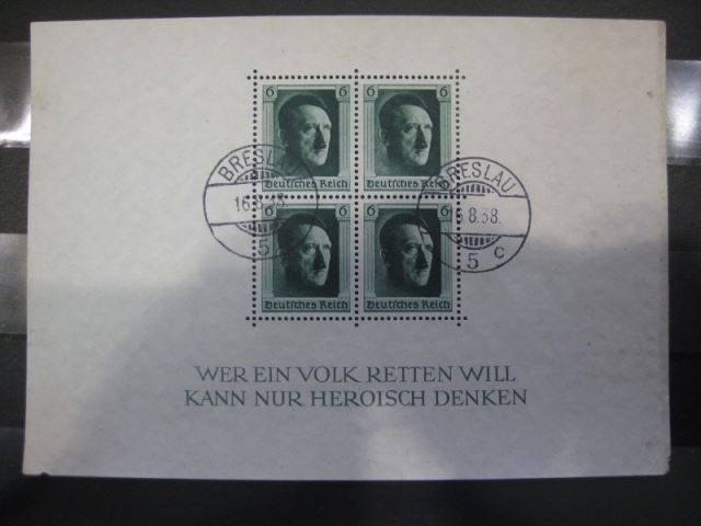 Deutsches Reich, III. Reich  Block 7 Hitler-Block gezähnt