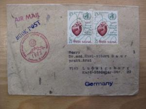 Deutsche Everest -Lhotse - Expedition 1972, Leitung G. Lenser Luftpostbrief von Kathmandu nach Deutschland