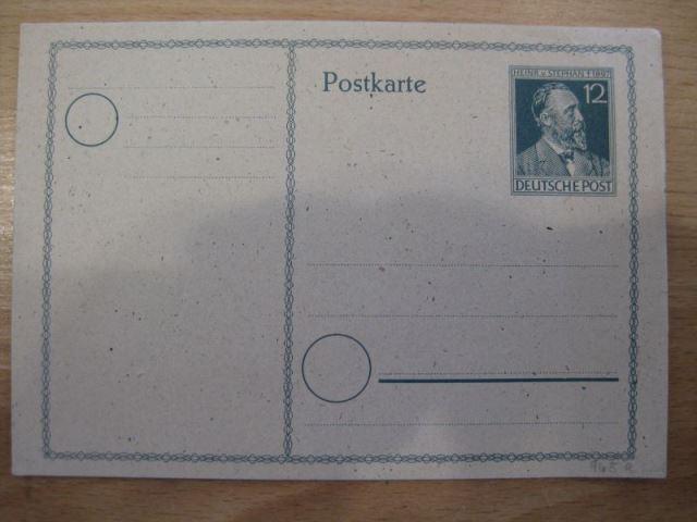 50. Todestag Heinrich von Stephan, Ganzsache, Postkarte  Michel-Nr. 965 a