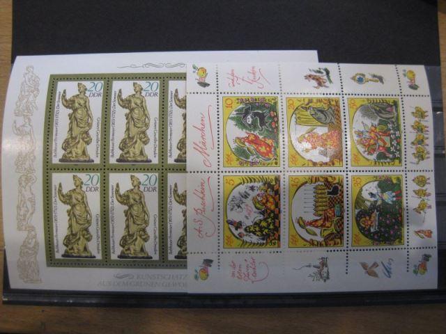 DDR Jahrgang 1984  mit: 48 Marken, 4 Blocks, 6 Zusammendrucke und 2 Kleinbogen, postfrisch, ** mit ausschließlich kompletten Sätzen