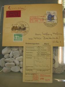 DDR Einschreibemarke für SbPÄ:  Berlin Sozphilex Postgeschichte auf Brief