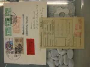 DDR Einschreibemarke für SbPÄ:  Berlin 750 Jahre Berlin auf Brief