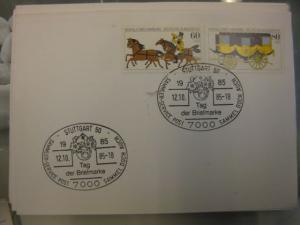 Sonderstempel Tag der Briefmarke auf MOPHILA-Hamburg 1985 Zusammendruck, Michel-Nummer 1255-56, Stuttgart 1985