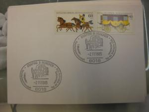 Sonderstempel Tag der Briefmarke auf MOPHILA-Hamburg 1985 Zusammendruck, Michel-Nummer 1255-56, Grafing 1985