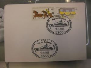Sonderstempel Tag der Briefmarke auf MOPHILA-Hamburg 1985 Zusammendruck, Michel-Nummer 1255-56, Kiel 1985