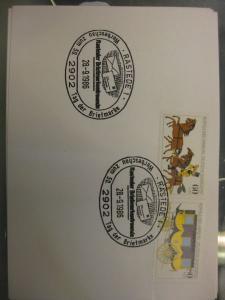 Sonderstempel Tag der Briefmarke 1986, Rastede  auf Zusammendruck MOPHILA Hamburg 1985, Michel-Nummer:1255-56